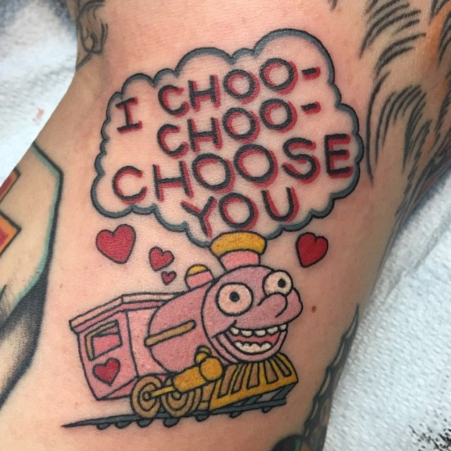 I Choose You Simpsons tattoo