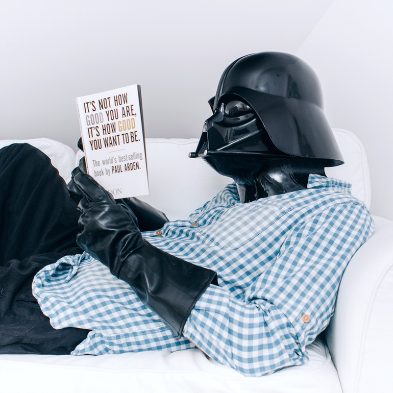 Darth Vader Reading