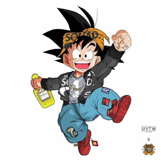 Anime Characters In Streetwear on cartoon characters wearing yeezys